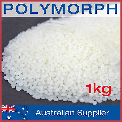 Polymorph 1kg DIY mouldable plastic pellets melts at 62°C: Polycaprolactone, PCL