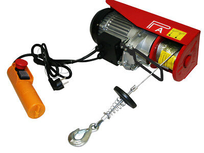 200Kg Electric Power Hoist Winch Lift Garage Motor Lift 230V 510W Cable 12M