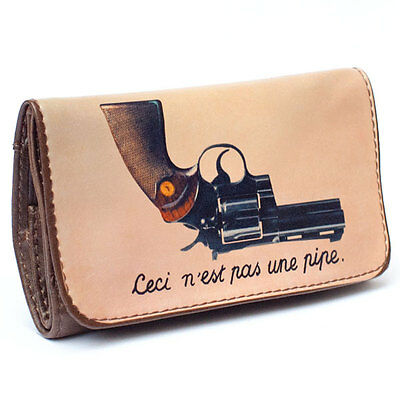 """La Siesta Tobacco Pouch - """"this Is Not A Pipe"""" Gun Design Pouch - Herb Pouch"""