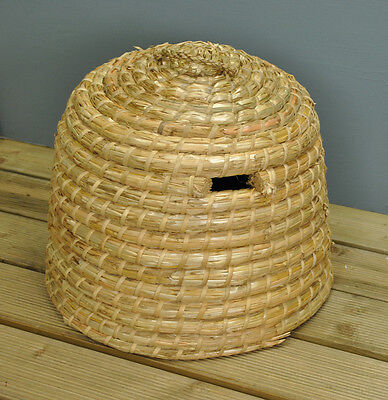 Hand Woven Straw Bee Hive Skep Nester by Fallen Fruits