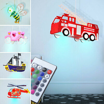 LED ceiling children light bee car coach ship RGB remote control dimmable modern