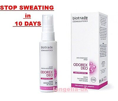 BIOTRADE Cosmetic STOP SWEATING in 10 DAYS ODOREX Deo Hand & Armpits