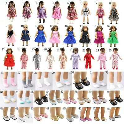 """Fashion Sleeveless Dress Shoes Socks for 18"""" American Girl Our Generation Dolls"""