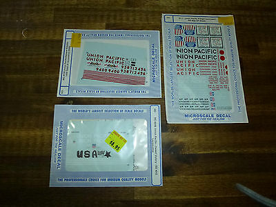 American Model Railroad,3 Packs of Union Pacific Decals HO Scale