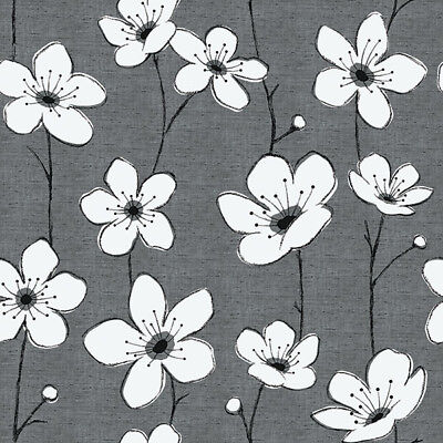 Jones Interiors - Isabella - Grey - Large Fabric Remnant - 22cm x 109cm
