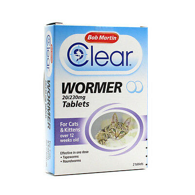 Bob Martin Clear Wormer Tablets for Cats & Kittens Wormer Treatment Over 12 week