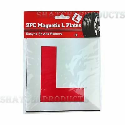 2 x GENUINE FULLY MAGNETIC L PLATES SECURE Quick And Easy To Fix