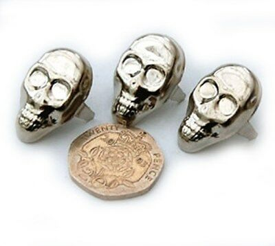Skull Studs ideal for Customizing Clothing - Bargain 25 pack