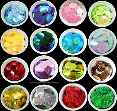 29 COLOURS - 100 Large Round 30MM Loose Sequin Flat Sewing Trim Costume BU1209