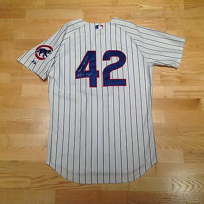 2009 Game Used Worn Jersey Alfonso Soriano #42 JR Chicago Cubs New York Yankees