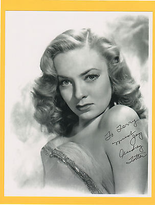 Audrey Totter SIGNED 8X10 b&w Autographed Photo The Postman Always Rings Twice