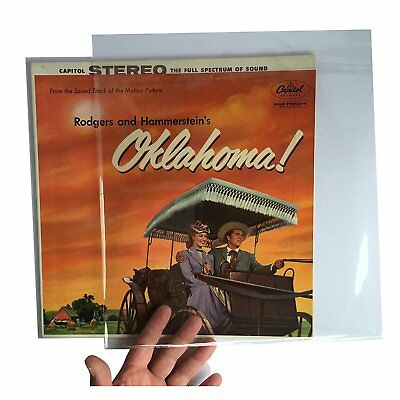 """100 RESEALABLE flap outer vinyl record sleeves covers 12"""" LP FREE SHIPPING"""
