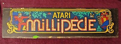 Arcade Atari Millipede Marquee Used 1 Pc.