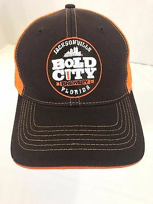 New BOLD CITY BREWERY Jacksonville Florida Be Bold Trucker Snapback Hat Mesh