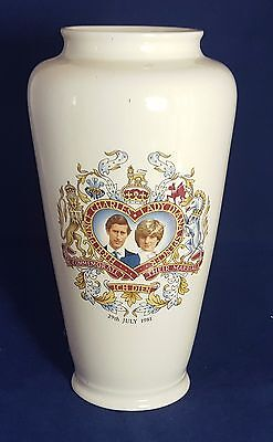 Beautiful 1981 Prince Charles and Lady Diana Marriage Commemorative Vase