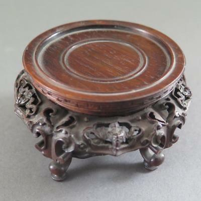 Extremely Fine Antique Chinese Vase Stand - Carved Wood
