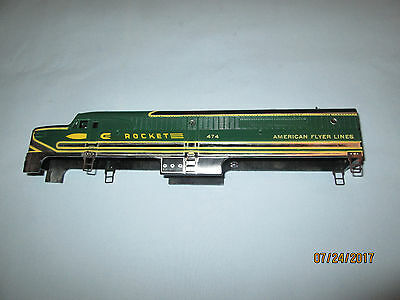 American Flyer #474 Rocket PA Diesel Locomotive Shell. 1953 Chrome Version