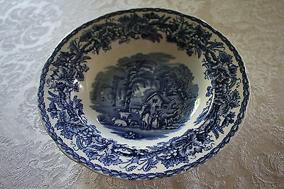 Booths Made in England Blue and White Pottery Bowl