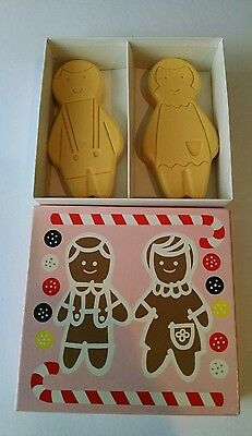 Avon Gingerbread Soap Twins with Box Vintage 1960's