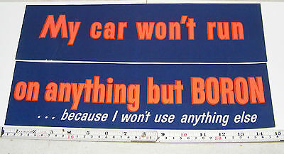Boron Gasoline Decal Sign Vintage Peel & Stick 2 Piece Sohio Extron