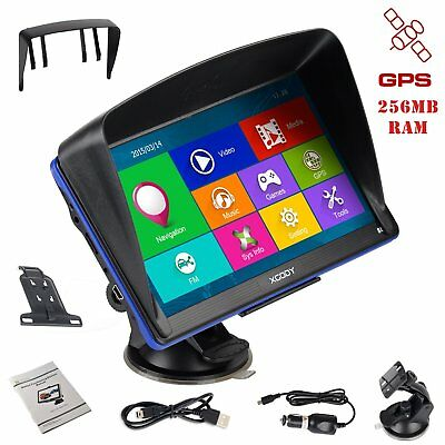 "XGODY 7"" Capacitive GPS Navigation SAT NAV for Car Truck 8GB Free Lifetime Maps"