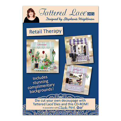 Tattered Lace RETAIL THERAPY CD ROM - Click Print GO! Incl Stunning Backgrounds!
