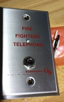 GS Edwards 6833-1 firefighters telephone wall plate