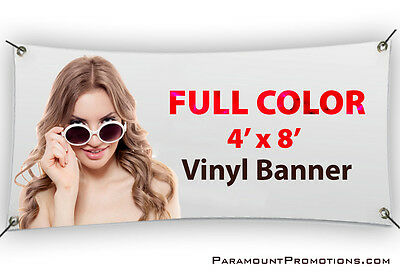 4x8 Printed Full Color Custom Vinyl Banner / Sign * Sale Price *