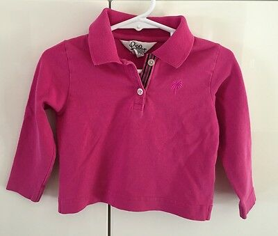 Lilly Pulitzer Polo Sweater Size 2T Pink Palm Tree Girls