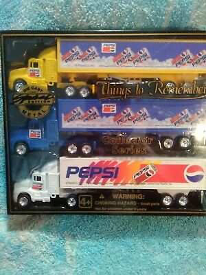 Things To Remember Pepsi-Cola Die Cast Trucks Collector