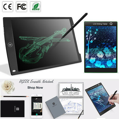 8.5 12'' LCD Writing Pad Notepad Electronic Drawing Tablet Graphics Board&Stylus