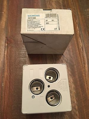 New In Box Siemens Diazed Fuse Base 5Sf5066