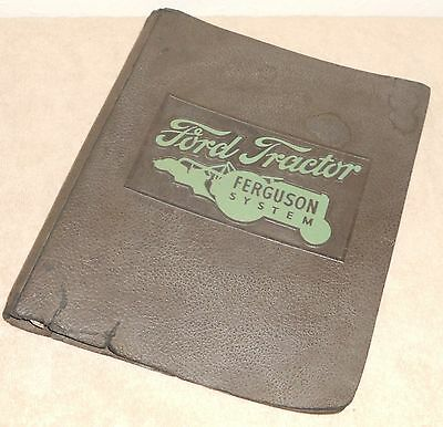 1940 3 Ring Binder to hold Ford Tractor Ferguson System Literature - worn