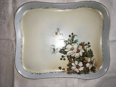 Vintage or Antique Porcelain Tray, Beautiful Hand-painted Piece