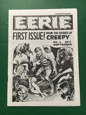 Eerie #1  Warren Publication 2Nd Print Rare Htf