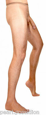 men's sheer pantyhose with sheath made for men transparent nylon masculine hose