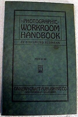 Photographic Workroom Handbook | 1927 | original 1st Edition | Fairly rare |