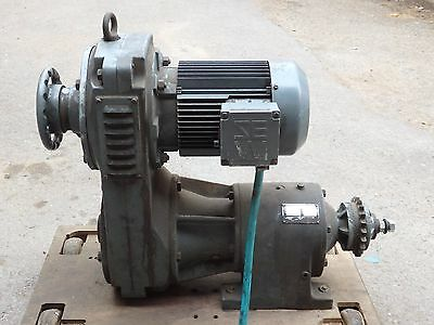 SEW 3Kw 3Ph Motor with Variable gearbox 36-211 RPM torque control gear