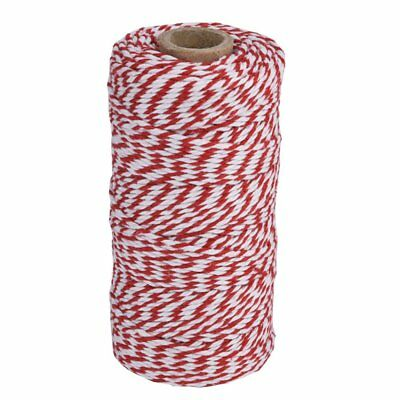 Eboot Kitchen Cooking Twine String 100 Meter Red And White 100% Cotton Material
