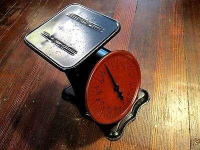 beautiful 24 lb. antique Perfection slanting dial scale kitchen decor Pat'd 1906