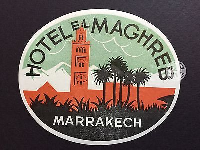 Hotel Luggage Label | Hotel Maghreb Marrakech Deco