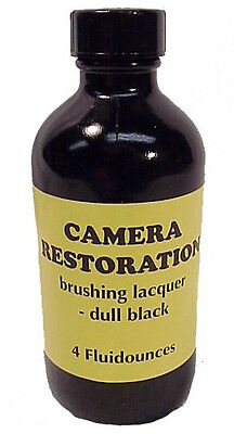 4 OZ bottle Dull Black Brushing Laquer for camera chips and finish restoration