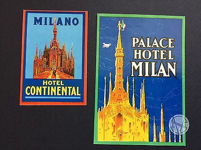 Hotel Luggage Label | Milan Hotels Continental and Palace