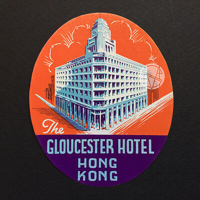 Hotel Luggage Label | Gloucester Hotel Hong Kong | Mint