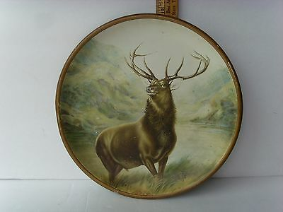 """Antique """"Sanders & Shafer"""" Tin Advertising Tray 10"""" ~1890-1925 35/57"""