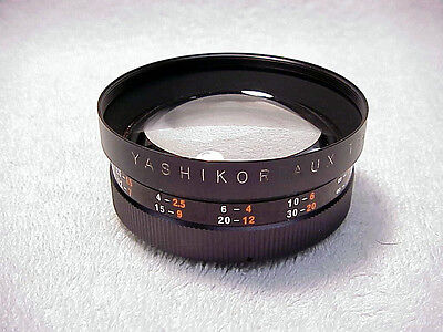 Vintage Telephoto and Wide Angle Lens Set for Yashica Electro 35 GS GSN GT GTN
