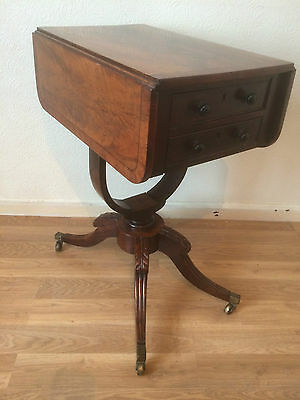 A Delightful George IV Flame Mahogany Sewing/Work Table circa 1825