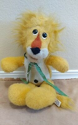 "15"" Vintage Animal Fair Leroy Yellow Lion Stuffed Plush Toy Henry's Friend"
