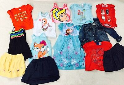 Warm Weather Everyday Clothing Lot Girls 2T Toddler Summer Assorted Items 13 EUC