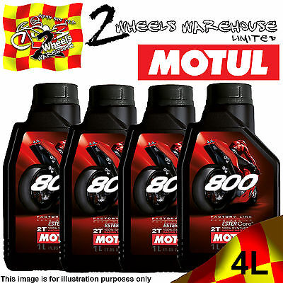 1L 2L 3L 4L Motul 800 Road Racing 2T Factory Line Ester Core Fully Synthetic Oil
